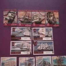 Sellos: SELLOS R. YIBUTI Y R. I. SALOMON MTDOS/2013/14/BARCOS/TRANSPORTE/VELERO/NAVIO/BUQUE/FLOTA/. Lote 289683548