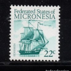 Sellos: MICRONESIA 34** - AÑO 1986 - BARCOS - VELERO SENYAVIN. Lote 295354113