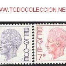 Sellos: BÉLGICA: 1971, BÁSICOS: REY BALDUINO. Lote 840384