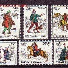 Sellos: BÉLGICA 2071/76*** - AÑO 1982 - HISTORIA DEL CORREO. Lote 25230351