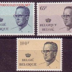 Sellos: BÉLGICA 2021/23*** - AÑO 1981 - REY BALDUINO I. Lote 24647709