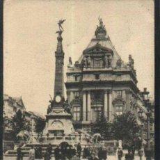 Sellos: BRUXELLES - PLACE DE BRUCKERE. ( BRUSELAS - BELGICA) 1905 CIRCULADA CON SELLO DE BELGICA. Lote 12846573