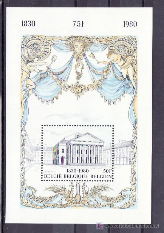 BELGICA HB 55 SIN CHARNELA, 150º ANIVERSARIO DE LA INDEPENDENCIA, TEATRO DE LA MONEDA, (Sellos - Extranjero - Europa - Bélgica)