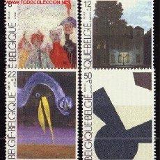 Sellos: BÉLGICA 2141/44*** - AÑO 1984 - PINTURA - INAGURACIÓN DEL MUSEO DE ARTE MODERNO DE BRUSELAS. Lote 24926258