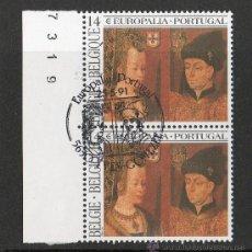 Sellos: BÉLGICA 1991 YV 2409*º BIENAL DE ARTE Y CULTURA EN PORTUGAL EUROPALIA'91 - PINTURA - PERSONAJES. Lote 10034342