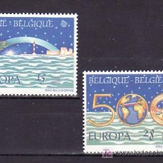 Sellos: BELGICA 2454/5 SIN CHARNELA, TEMA EUROPA 1992, V CENTENARIO DESCUBRIMIENTO AMERICA, FARO, . Lote 10913130