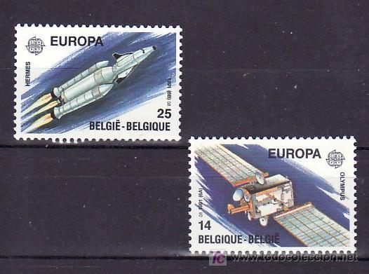 BELGICA 2406/7 SIN CHARNELA, TEMA EUROPA 1991, EUROPA Y EL ESPACIO (Sellos - Extranjero - Europa - Bélgica)
