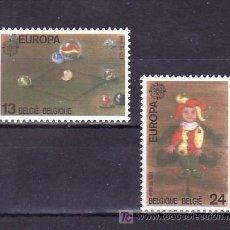 Sellos: BELGICA 2323/4 SIN CHARNELA, TEMA EUROPA 1989, JUEGOS INFANTILES, . Lote 10913170
