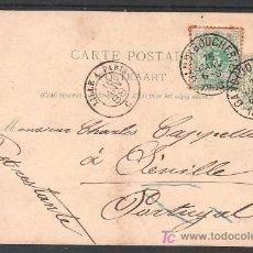 Sellos: BELGICA 45 EN ENTERO POSTAL DEL MISMO SELLO CIRCULADA, MATASELLO TRANSITO LILLE A PARIS, LLEGADA A. Lote 10913361