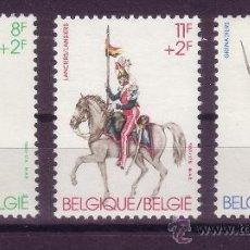 Sellos: BELGICA 2108/10*** - AÑO 1983 - UNIFORMES MILITARES. Lote 21868083