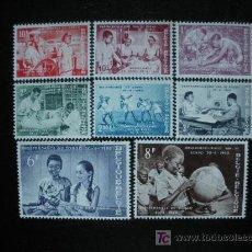 Sellos: BELGICA 1960 IVERT 1139/46 *** INDEPENDENCIA DEL CONGO. Lote 19623436