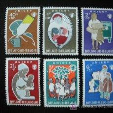 Sellos: BELGICA 1960 IVERT 1153/8 *** U.N.I.C.E.F.. Lote 20062507