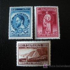 Sellos: BELGICA 1946 IVERT 728/30 *** EN MEMORIA DE PERE DAMIEN. Lote 15349437