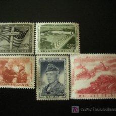 Sellos: BELGICA 1957 IVERT 1032/6 *** POR EL MEMORIAL AL GENERAL PATTON. Lote 28391372