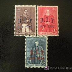 Sellos: BELGICA 1930 IVERT 305/7 *** REUNIÓN DE LA OFICINA INTERNACIONAL DE TRABAJO - CORONA. Lote 19623438