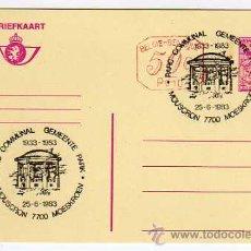 Sellos: BELGICA: MATASELLOS CONMEMORATIVO PARQUE COMUNAL DE MOUSCRON 1983 - ENTERO POSTAL. Lote 15643737