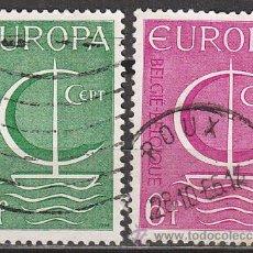 Sellos: BELGICA IVERT Nº 1389/90, EUROPA 1866. USADOS. Lote 15958699