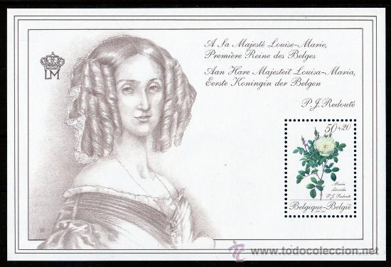 BÉLGICA AÑO 1990 MI HB 60*** ROSAS - FLORES - FLORA - CENTº FEDERACIÓN DE FILATÉLIA BÉLGICA'90 (Sellos - Extranjero - Europa - Bélgica)
