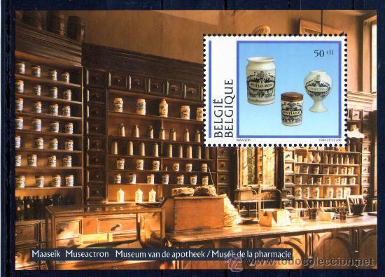 BÉLGICA AÑO 1994 YV HB 69*** MUSEO DE FARMACIA - PORCELANA BELGA - ARTESANÍA - ANTIGÜEDADES (Sellos - Extranjero - Europa - Bélgica)