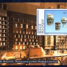 Sellos: BÉLGICA AÑO 1994 YV HB 69*** MUSEO DE FARMACIA - PORCELANA BELGA - ARTESANÍA - ANTIGÜEDADES. Lote 26288198