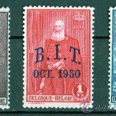 Sellos: BÉLGICA AÑO 1930 YV 305/07* REYES BELGAS (CON SOBRECARGA B.I.T. OCT 1930) - CASA REAL - PERSONAJES. Lote 27485529
