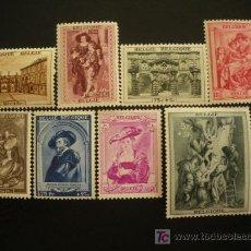Sellos: BELGICA 1939 IVERT 504/11 * RESTAURACIÓN DE LA CASA DE RUBENS EN AMBERES - PERSONAJES. Lote 22030032