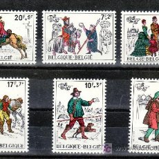 Sellos: BELGICA 2071/6 SIN CHARNELA, BELGICA 82, EXPOSICION FILATELICA MUNDIAL, MENSAJERO, CARTERO, . Lote 21003835