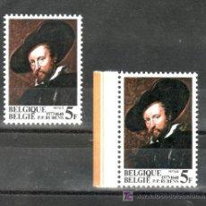 Sellos: BELGICA 1855/6 SIN CHARNELA, PINTURA, AUTORRETRATO DE P. P. RUBENS, MAESTRO BARROCO EN EUROPA, . Lote 21031344