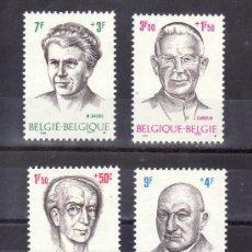 Sellos: BELGICA 1557/60 SIN CHARNELA, C. HUYSMANS, CARDENAL J. CARDIJN, MARIA BAERS, P.PASTUR. Lote 174560367