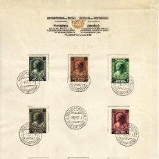 Sellos: BELGICA 458/65 PRIMER DIA EN HOJA OFICIAL TUBERCULOSIS, EFIGIE PRINCESA JOSEPHINE-CHARLOTTE . Lote 21197511