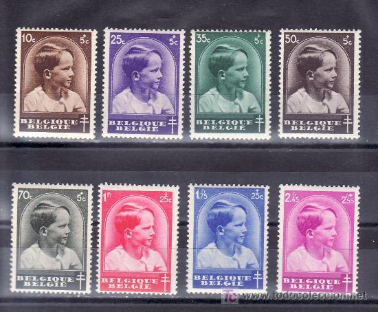 BELGICA 438/45 SIN CHARNELA, ANTITUBERCULOSOS, EFIGIE PRINCIPE BALDUINO, (Sellos - Extranjero - Europa - Bélgica)