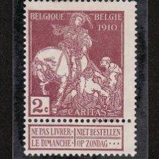 Sellos: BELGICA 89 SIN GOMA, EXPOSICION DE ARTE BELGA DEL SIGLO XVII EN BRUSELAS,. Lote 21228839