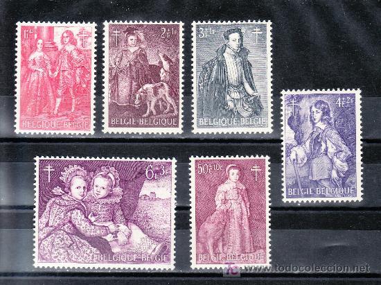 BELGICA 1307/12 SIN CHARNELA, PINTURA, ANTITUBERCULOSOS, (Sellos - Extranjero - Europa - Bélgica)