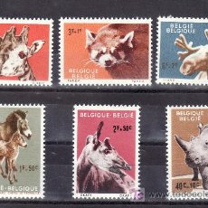 Sellos: BELGICA 1182/7 SIN CHARNELA, FAUNA, ANIMALES DEL JARDIN DEL ZOOLOGICO DE ANVERS, . Lote 21174906
