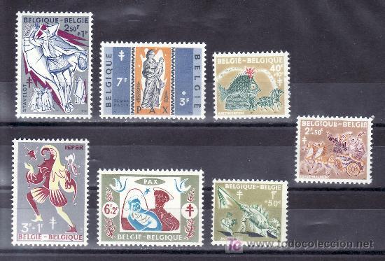 BELGICA 1114/20 CON CHARNELA, ANTITUBERCULOSOS, (Sellos - Extranjero - Europa - Bélgica)