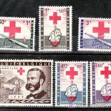 Sellos: BELGICA 1096/101 SIN CHARNELA, CENTENARIO DE LA IDEA DE LA CRUZ ROJA, . Lote 21175253