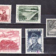 Sellos: BELGICA 1032/6 CON CHARNELA, MEMORIAL AL GENERAL PATTON . Lote 21186053
