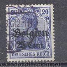 Sellos: BELGICA OCUPACION ALEMANA, 1914, YVERT TELLIER 4 USADO. Lote 22961037