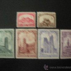 Sellos: BELGICA 1928 IVERT 267/72 * PRO ANTITUBERCULOSIS - MONUMENTOS. Lote 23650875