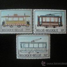 Sellos: BELGICA 1983 IVERT 2079/81 *** HISTORIA DEL TRANVIA . Lote 24385039