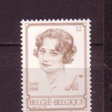 Sellos: BELGICA 2183*** - AÑO 1985 - 50º ANIVERSARIO DE LA MUERTE DE LA REINA ASTRID. Lote 24907950