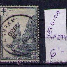 Sellos: BELGICA 1929 - ROCHER BAYAR A DINANT - YVERT Nº 294. Lote 25108855