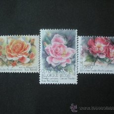 Sellos: BELGICA 2005 IVERT 3368/70 *** FLORA - ROSAS. Lote 26372460