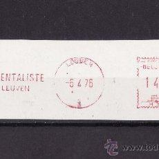 Sellos: FRANQUEO MECANICO FRAGMENTO LEUVEN 1976. Lote 26733380