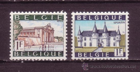 BÉLGICA 1423A/24A*** - AÑO 1967 - TURISMO - PAISAJES Y MONUMENTOS (Sellos - Extranjero - Europa - Bélgica)