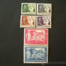 Sellos: BELGICA 1954 IVERT 955/60 * PRO ANTITUBERCULOSIS - PINTURA. Lote 28928875