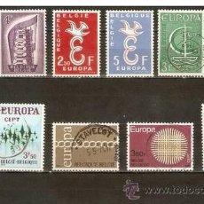 Sellos: BELGICA CONJUNTO DE SELLOS USADOS TEMA EUROPA. Lote 36184648