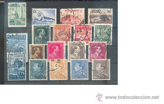 LOTE DE 18 SELLOS ANTERIORES A 1945 (Sellos - Extranjero - Europa - Bélgica)