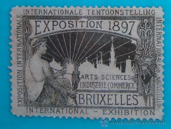 VIÑETA SELLO EXPOSITION 1897 BRUXELLES ARTS SCIENCES INDUSTRIE COMMERCE - NUEVO SIN GOMA (Sellos - Extranjero - Europa - Bélgica)