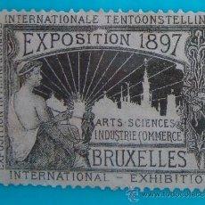 Sellos: VIÑETA SELLO EXPOSITION 1897 BRUXELLES ARTS SCIENCES INDUSTRIE COMMERCE - NUEVO SIN GOMA. Lote 37219825
